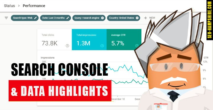 Search console & data highlighting Service - SEO Hampshire