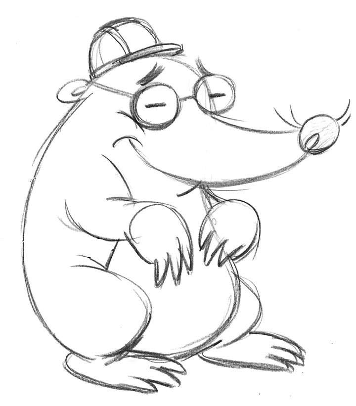 Character Design From Pencil Drawings - BoodleBobs Mole - Content Creation SEO Hampshire