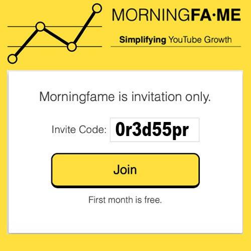 Morningfa.me Invitation Code One Month Free Morningfame Access Via BSEO-Hampshire Invitation Code