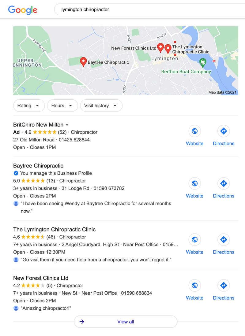 Local SEO Google Business Optimisation Services - Freelance WordPress Web Design - SEO-Hampshire