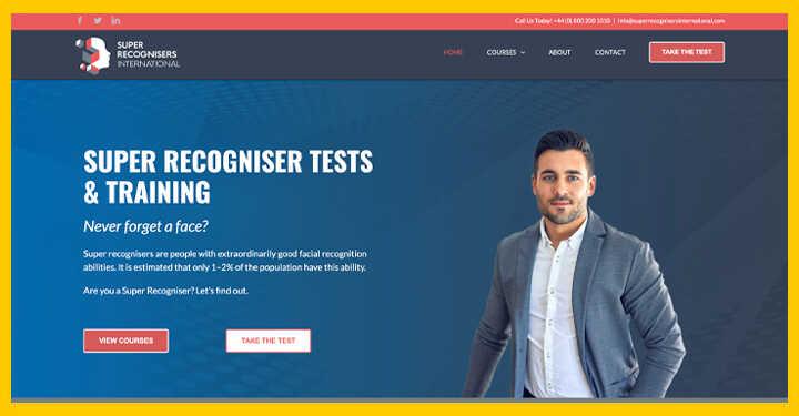 Digital Branding & Training Event Booking WordPress WebSite For Super Recognisers - SEO Hampshire